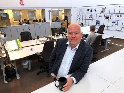 STØTTER FRIVILLIGHETEN: Ansvarlig redaktør i Tønsbergs Blad, Sigmund Kydland, ønsker igjen bunker med søknader fra lokale lag og foreninger.