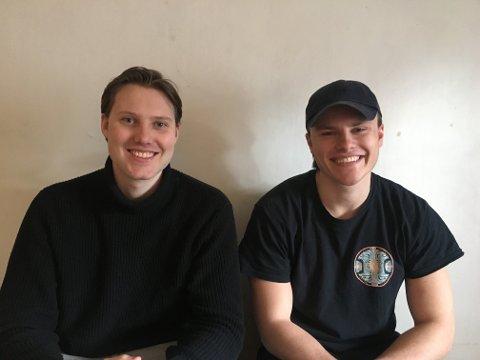 MEPO: En samtale i bilen på vei hjem fra hyttetur resulterte i nettløsningen mepo.no. Fra venstre Sigurd Nord Andresen og Johan Agerup Rangnes.