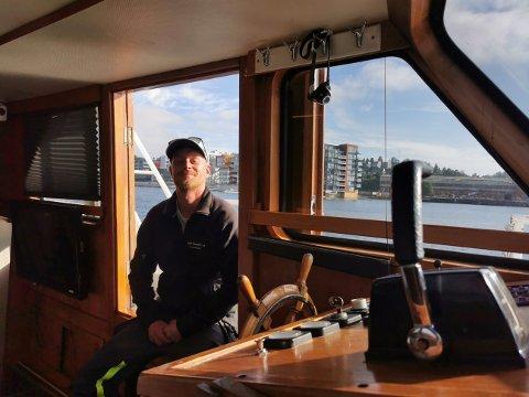 BÅTUTLEIE: Bjørn Mørdre syns det er veldig gøy å leie ut båt, men det er ikke alltid bare-bare.