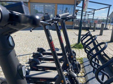 NYTT TILBUD I TØNSBERG: 10. mai startet pilotprosjektet med utleie av elsparkesykler i Tønsberg.