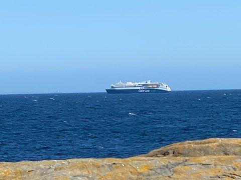 REDNINGSHELIKOPTER: Torsdag ettermiddag landet et Sea King-helikopter på Color Line.