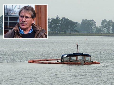 TRIST: – Det ligger ekstremt mye arbeid i disse båtene, så dette er en tragedie for oss, sier leder Arne Steinsbø i Loggen Kystlag etter tyveriet og grunnstøtingen av «Old Sport».