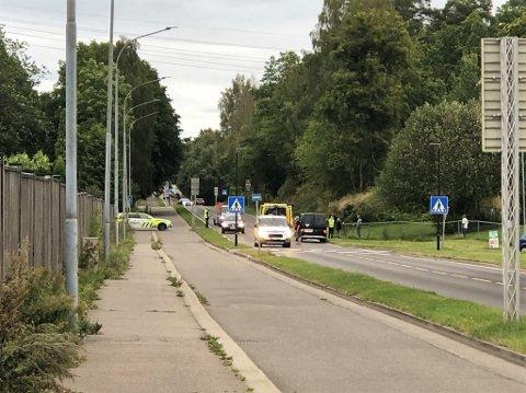 ULYKKE: MC'en kjørte av veien i Holtandalen.