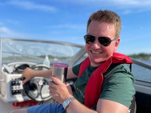 SOMMERFERIE: Anders Tyvand har brukt mye av årets sommerferie i båt.