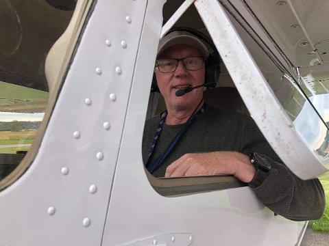 TRIVES: I den lille cockpiten trives Arild Aasen aller best.