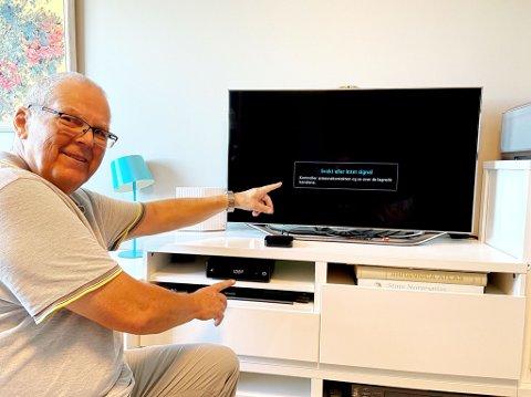 OPPGITT: I over en uke har Steinar Grjotheim vært uten TV-signal etter en feil hos Telenor. Nå raser han mot bedriftens kundeservice.