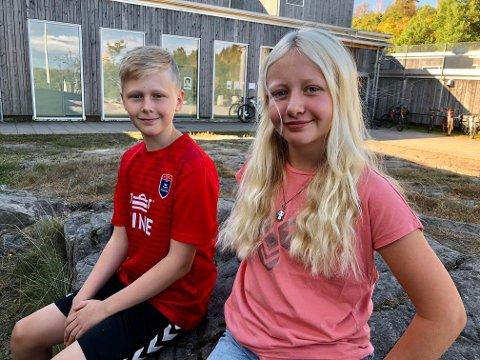 VALG: Haraldur Håkonarson og Marie Louise Jensen Hedlund er elever i 7A, og muligens morgendagens politikere.