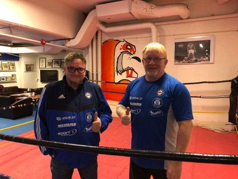 NM: Leder i Raufoss Bokseklubb, Ole Alex Wetten og trener Erik Dahlén er klare for NM på hjemmebane.
