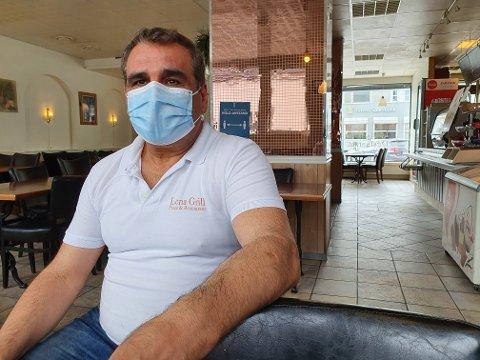 LØSNINGER: Sameer Yonan ønsker å tilby take-away i stedet for å ha kunder inn på serveringsstedet Lena Grill.