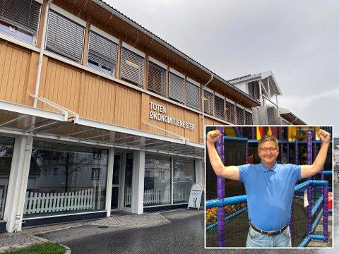 TIL LENA: Pizzabakeren etablerer seg i Audheimgården på Lena. Det får Roger Johansen til å juble.