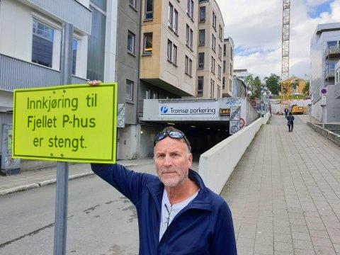 STENGT: Innkjøringa er fortsatt stengt, forklarer direktør Tore Harry Paulsen.