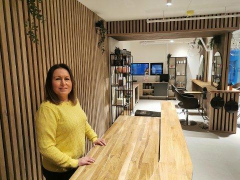 HELT NYTT: I de splitter nye lokalene i smuget bak Veitasenteret åpner Bella frisør ny salong.