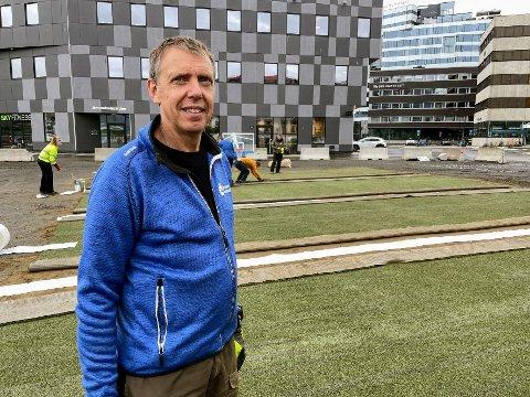 NYTT: Håkon Waage Gjertsen og Tromsø kommune er på jakt etter en permanent løsning for området ved Prostneset.