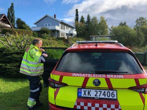 IKKE ALVORLIG: Brannvesenet rykket ut til et bolighus på Mule i Levanger etter melding om røykutvikling.