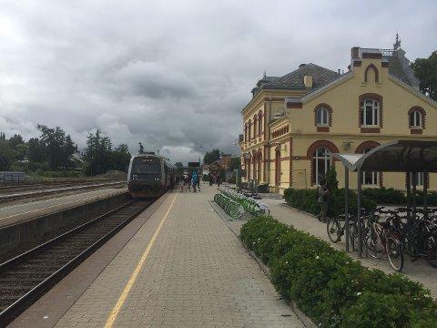Toget kom til Levanger i høstferien.