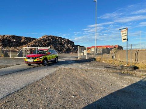 ANSATTE SLUKKET Mandag morgen var det et branntilløp ved mottaksanlegget hos Retura på Fiborgtangen. Ansatte klarte selv å slukke flammene.