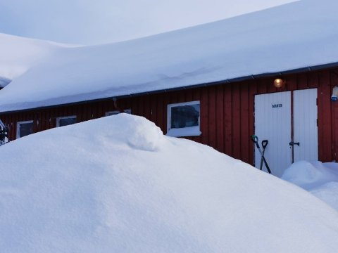 VERA: På det meste målte Vera 86 centimeter snødybde.