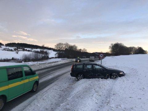Utforkjøringen har skjedd i nordgående felt på E6 på kommunegrensa mellom Inderøy og Steinkjer.