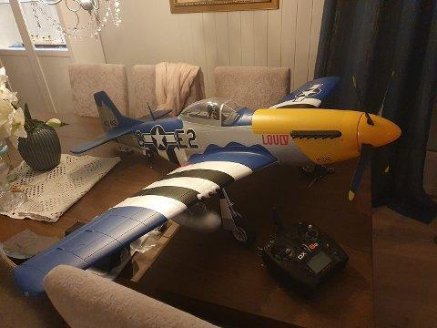 I NOEN ANDRES HENDER: Dette modellflyet et et av de tre som ble stjålet.