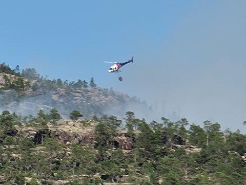 SKOGBRANNFARE: Det var flere branner i Trøndelag forrige uke. Blant annet begynte det å brenne på Spannfjellet både onsdag og torsdag. Nå er det nok en gang skogbrannfare.