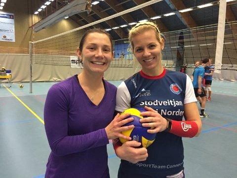 PÅ LAG IGJEN: Eline Bye Husby (t.v.) og Arjola Prenga tok to seriegull og ett cupmesterskap sammen for Stod i 2013-2015. Nå skal de spille sammen igjen – i 2. divisjon.
