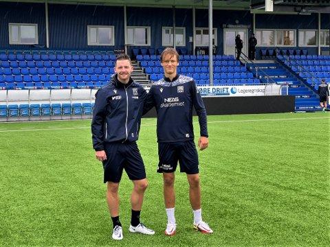 STEINKJER: Bendik Bye og Isak Aalberg har funnet tonen på KBK-treningene. Førstnevnte tror Steinkjer-talentet har ferdighetene til å nå langt.