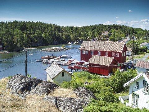 Byggeplaner: Det arbeides med planer om en bolig og 8 - 12 fritidsboliger på Sandøya.