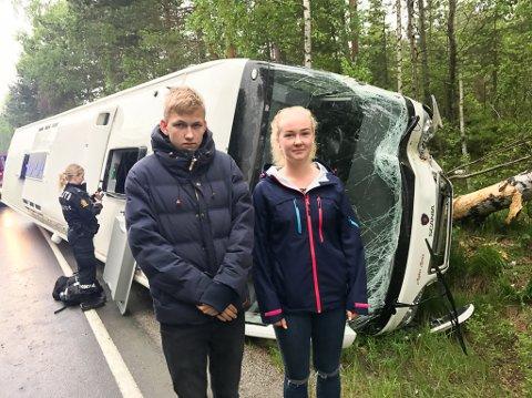 Maria Raudåna Selås og Fredrik Tangen fikk en tøff start på skoledagen i dag.