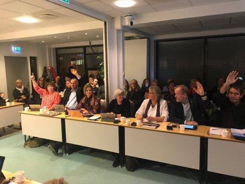 Siw Johannessen, Ragnvald Zwilgmeyer og Vidar Engh støttet Senterpartiet, mens May Britt Lunde, Monica Mostad Güttrup og Kirsten Lorenz Hegland gikk inn for forslaget fra TTL, Høyre og Venstre.