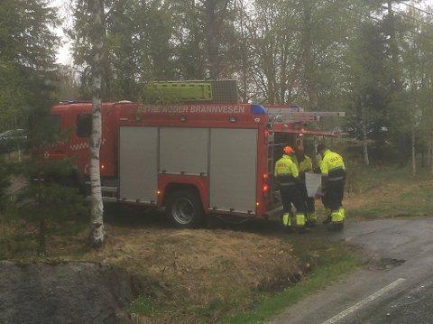 Brannmannskapene på Vegårshei rykket ut fredag kveld. Dette bildet er fra en utrykning tidligere i vår.