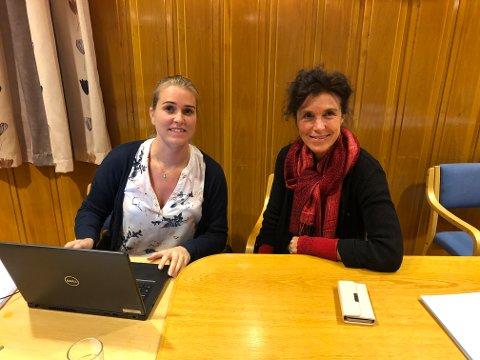 Anne Helene Espeland Baarøy og Anne Grete Glemming er valgansvarlige i Vegårshei kommune.