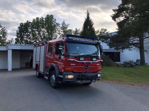 Brannvesenet måtte rykke ut til ungdomsskolen på Lyngmyr. Foto: Siri Fossing