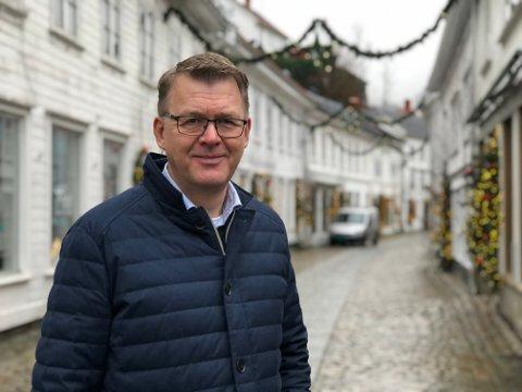 Spennende tider: Høye Høyesen startet i jobben som NHO-direktør i Agder 1.september 2020. Nå ser han frem til å jobbe for næringslivet i Agders interesser med etableringen av Morrow batteries nye fabrikk som bakteppe.
