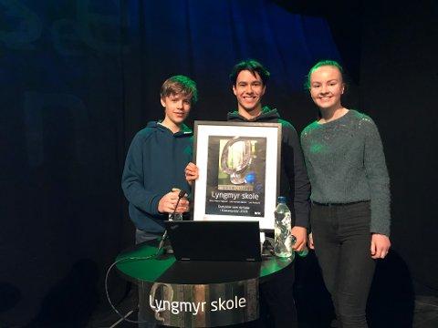 Oslo neste: 10.klasse ved Lyngmyr Ungdomsskole kom helt til finalen. Nå venter TV-opptak i Oslo.