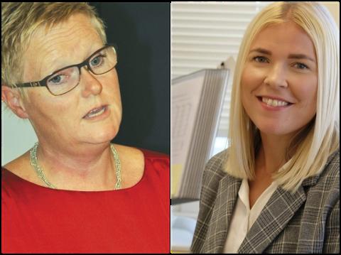 Åse Selaasdal er NAV-leder i Tvedestrand mens Maja Jørgensen leder NAV-kontoret i Vegårshei. Arkivfoto