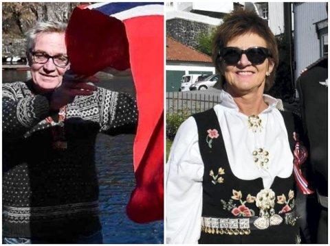 Leder i 17. maikomiteen Jens Ove Kristiansen og ordfører Marianne Landaas.