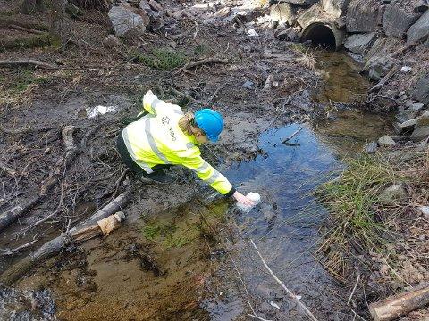 Nye Veier starter vannprøvetaking. Foto: Jony Moen/Nye Veier