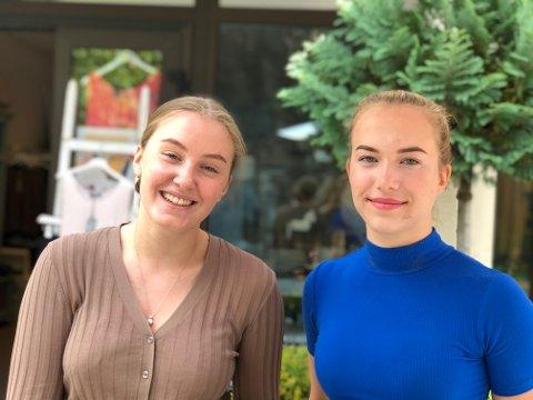 Karoline og Nora Alice: Karoline Songe Heggeland og Nora Alice Blom-Ulven tar ansvar hos Linns Lille Lykke når Linn Løland skal ha seg en fridag.