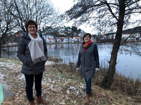 Full fart: Ordfører Marianne Landaas (H) og næringssjef Anne Torunn Hvideberg i Tvedestrand kommune, ønsker å utnytte mulighetene som kommer for kommunen fremover.