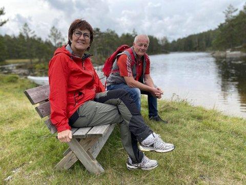 Bekymret: Marianne Landaas (H) og Kåre Haugaas (Sp) representerer sammen med Vidar Engh Tvedestrands E18-underutvalg.