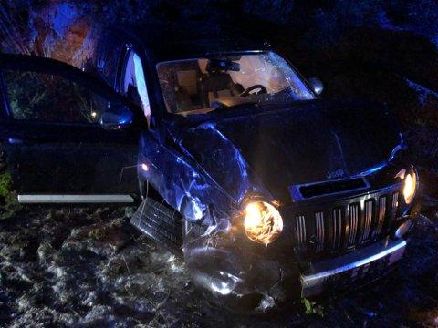Bilen skled ut av veien på ettermiddagen andre juledag.