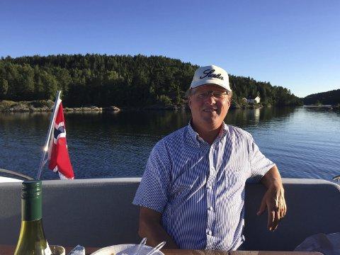 Sommergjest: Øyvind Hagen Ekeberg tar gjerne en diskusjon, blant annet om navn. Nå har han vunnet frem