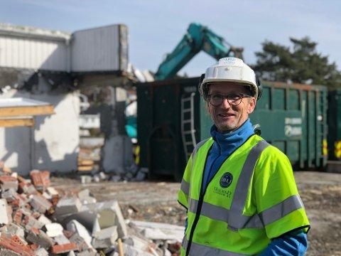 Sjef på Holmen: Geir Brynhildsen har ansvaret for JB Uglands prosjekt på Holmen i Kilsund.