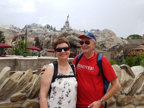 Ny sjef: Her er Terje Beruldsen i kledelig t-skjorte sammen med kona Anne Mette.