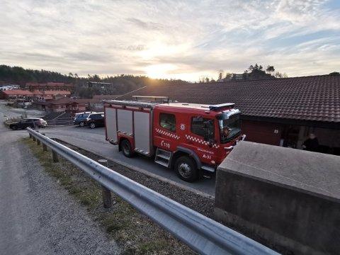 110-sentralen meldte om branntilløpet klokken 07.00 onsdag morgen.
