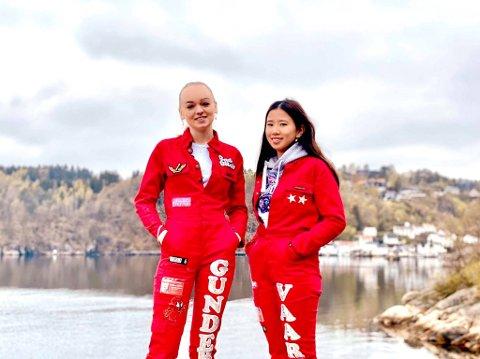 Helle Skaali Gundersen (18) og Marie Vaarning (19) er midt i russetiden og snart skal eksamener gjennomføres. Etterpå går turen til Elverum.