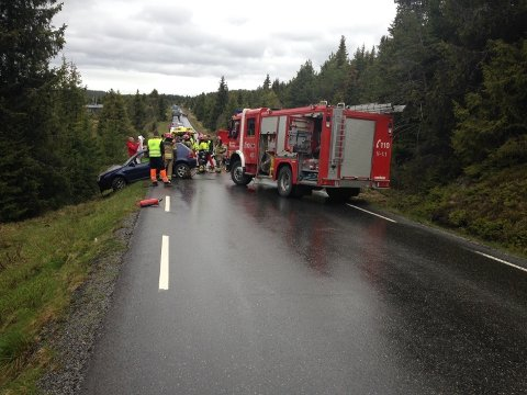 Fylkesveg 51 mellom Vasetdansen og Hovda.