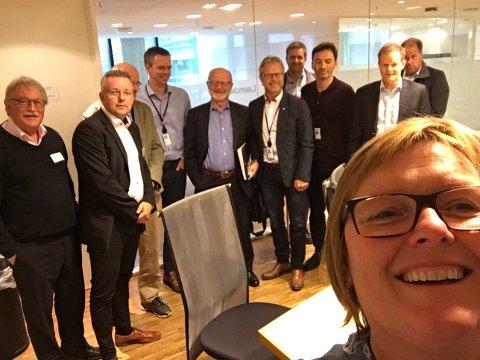 Møte: Valdrisene møtte NHO i Oslo. Foran i bildet regionrådsleder i Valdres og ordfører i Nord-Aurdal, Inger Torun Klosbøle.