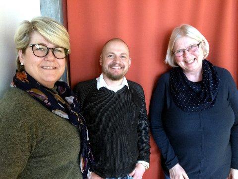Samarbeid: Jan Erik Hovland frå Høgskolen Innlandet orienterer saman med Inger-Line Haraldsen (t.v) og Marit Håvelsrud.