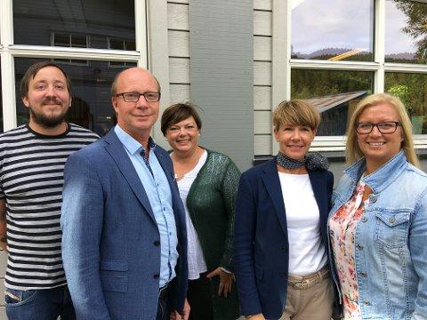 Philip Weisser (f.v.) presenterte Weisstech for Ketil Kjenseth, Ingjerd Thon Hagaseth, Hilde Tveiten Døvre og Eirunn Bjørkheim.